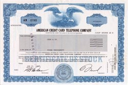 American Credit Card Telephone Company 1987