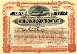 American De Forest Wireless Telegraph Company - Maine 1906