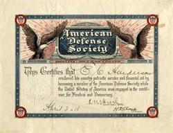 American Defense Society - New York 1918