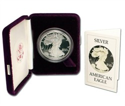 American Eagle Silver Proof Coin - Original 1988-S 1 oz Proof Silver American Eagle w/ Original Box from mint 1986 or 1988