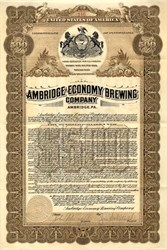 Ambridge Economy Brewing - Pennsylvania 1911
