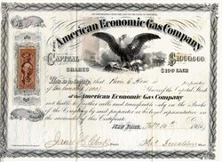 American Economic Gas Company - New York 1866