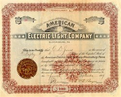 American Electric Light Company - 1899