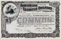 American Elevated Railroad (Stock fell from $45 to $1) - New Jersey 1903