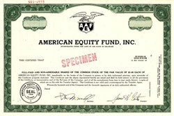 American Equity Fund, Inc. - Delaware