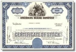 American Sugar Company Stock ( Original Dow Average Company )