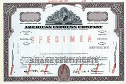 American Express Company Specimen - 1972