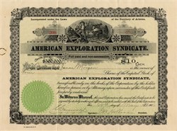 American Exploration Syndicate - Territory of Arizona 1906