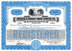 American & Foreign Power Company Inc. - Maine - Gold Debenture