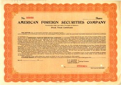 American Foreign Securities Company - Delaware 1916