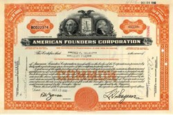 American Founders Corporation (George Washington Vignette) - 1932