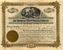 American Gold Standard Mining Company - Jackson District. Colorado 1909