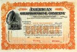 American Graphophone Company - 1900