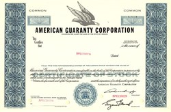 American Guaranty Corporation - Oregon