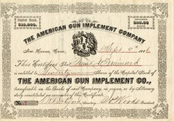 American Gun Implement Company - New Haven, Connecticut - 1886