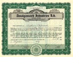 Amalgamated Industries Ltd. - Nevada 1929