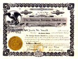 American Kerosene Manifold Company 1918