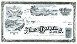 American Land & Trust Company 1887 - San Francisco