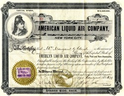 American Liquid Air Company - New York 1900
