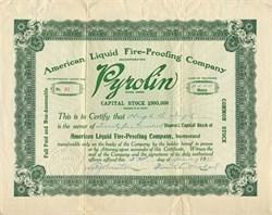American Liquid Fire - Proofing Company ( Pyrolin ) - Delaware 1911