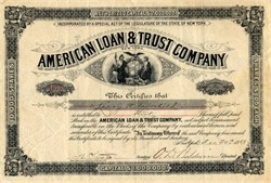 American Loan & Trust Company - New York 1888