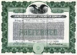 American Manicopy Typewriter Company - 1923