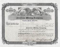 Americus Mining Company - Kansas City, Missouri 1894