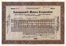 Amalgamated Motors Corporation 1924