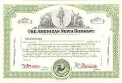 American News Company (one of the last surviving trusts of the 20th century)