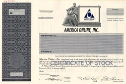 America Online, Incorporated (AOL) with Steve Case as Chairman ( Pre Time Warner Merger )