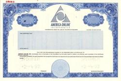 America Online Incorporated  (IPO Specimen Certificate ) - Deleware 1992