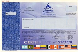 America Online Latin America, Inc. - Filed for Bankruptcy in 2005 (Rare Specimen) - Delaware
