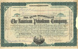Reno Department of the American Petroleum Company signed by Charles Vernon Culver ( pyramid scheme scam)- Pennsylvania 1881