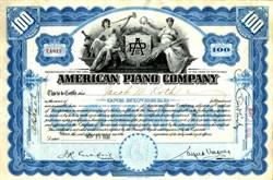 American Piano Company - New Jersey 1930