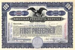 American Pneumatic Service 1930's