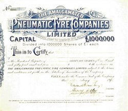 Amalgamated Pneumatic Tyre Company - United Kingdom, 1898