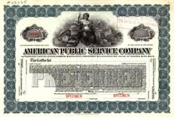 American Public Service Company