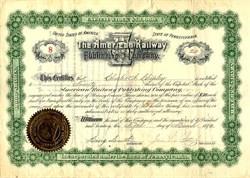 American Railway Publishing Company - Pennsylvania 1892