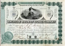 American Railway Signal Company - New York 1883