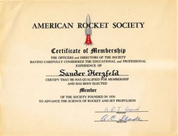 American Rocket Society signed by Herbert R. J. Grosch and A.C. Slade - New York 1951