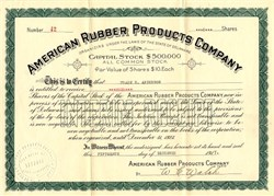 American Rubber Products Company - Delaware 1917