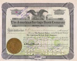 American Savings Bank Company 1902