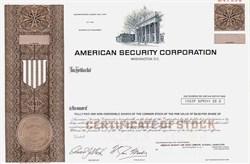 American Security Corporation - Washington D.C.  1975