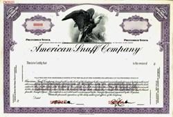American Snuff Company Specimen Stock Certificate - New Jersey