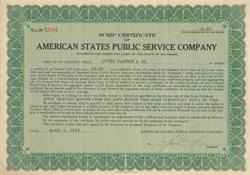 American States Public Service Company 1931
