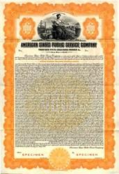 American States Public Service Company (Now Southern California Water Company - American States Water Company )  Gold Bond - Illinois 1928