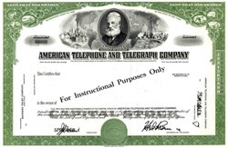 American Telephone and Telegraph Company  - Specimen