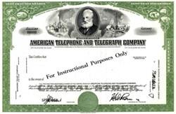 American Telephone and Telegraph Company  - Specimen