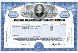 American Telephone and Telegraph Company (Uncancelled) - New York 1982
