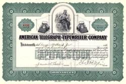 American Telegraph - Typewriter Company 1916